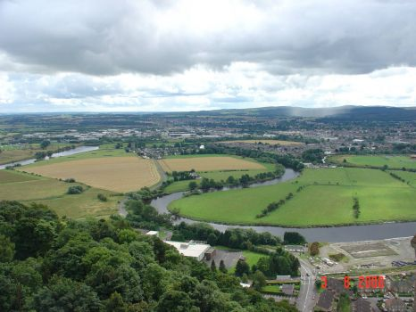 Wiev from the top of Wallace Monument