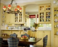 Cheerful Yellow Cabinets