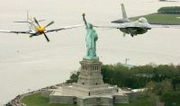 Heritage Flight over Statue of Liberty