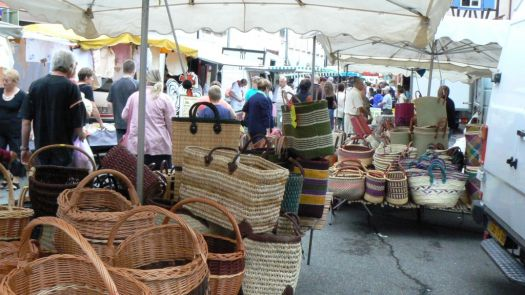 Saturday morning market in the Alsace