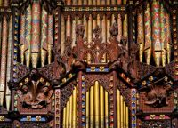 Ely Cathedral pipe organ case and pipes I