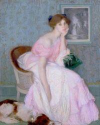 Edmond Aman-Jean (French, 1858–1936), Miss Ella Carmichael (1906)
