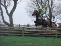 Leffingwell Lion, my horse, jumping a fence in a horse race