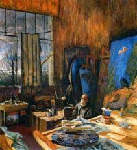 Edouard Vuillard In His Atelier By Ker Xavier Roussel