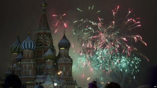 New Year Fireworks in Red square