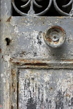 Grey Weathered Door