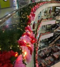 Christmas decorations in a Shopping Mall