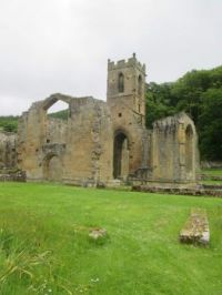 The ruined priory church at Mount Grace Priory, Northallerton, Yorkshire