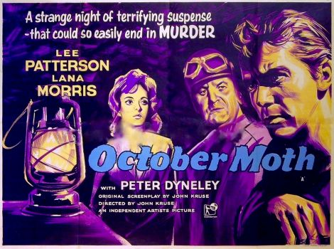 OCTOBER MOTH - 1960 MOVIE POSTER  LEE PATTERSON,LANA MORRIS