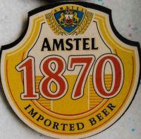 Amstel beer coaster