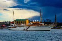 Danish royal vessel M/Y Dannebrog in Copenhagen