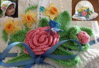 Child's Crochet Cloche Hat - 330