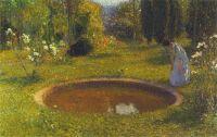 Girl by a Fountain, Henri-Jean-Guillaume Martin