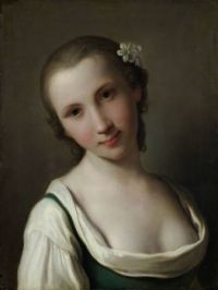 Attributed to Pietro Rotari A Young Woman 1756 - 1762