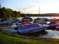 Boats on Cazenovia Lake, NY