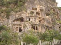 Rock cut tombs in Turkey