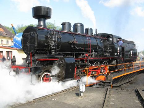 Steam locomotive in Wolsztyn