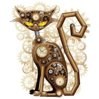 24048248-steampunk-cat-vintage-style