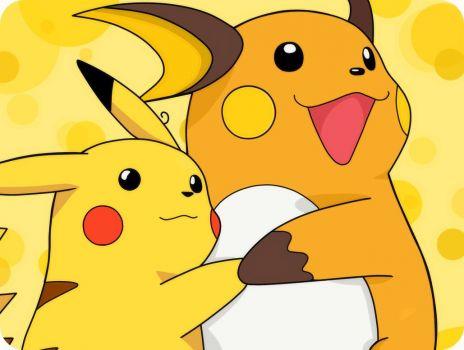 Pikachu and Raichu