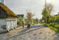Peder Mørk Mønsted, Late Spring Day in Vallensbæk, 1922