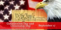 Today Is Constitution Day and Citizenship Day!!