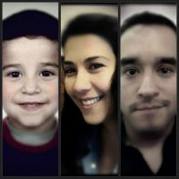My twins: My son Ruben and family