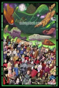 Star Trek foes and adversaries and antagonists by Dusty Abell