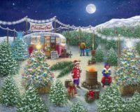 A Lot of Christmas Trees - Christmas Tree Lot by Janet Kruskamp