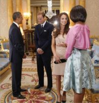 Barack Obama and Michelle meet Prince William and Kate