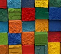 Colorful clay