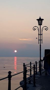 Sunset in Lazise at Lake Garda -Italy