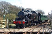 Ivatt Class 2MT 2-6-2T 41298 running on the Isle of Wight Steam Railway.
