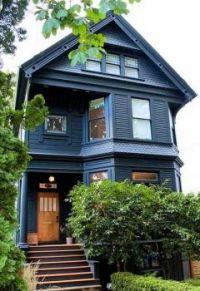 Grey Victorian home