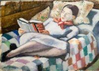 Mildred reading - Emil Holzhauer