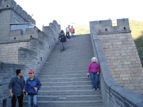 On the GREAT WALL OF CHINA near Beijing  Oct 2012
