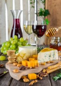 Wine, Cheese, & Crackers