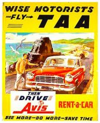 VIntage ad - Avis Rent A Car
