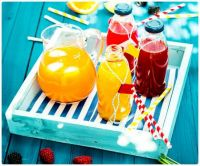 A Tray of Summer Party Fruit Juices