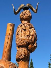 Burwash Native Indian cemetery, Yukon, Canada