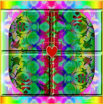 Colorful Valentine Kaleidoscope