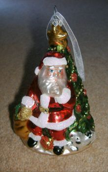 Seasonal - Christmas - Tree Ornaments - Santa & Large Tree