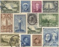 Old Canadian stamps