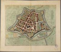 Map of Wageningen by Frederick de Wit, approx. 1698