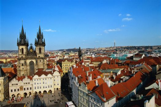 Prague: view from the clock tower