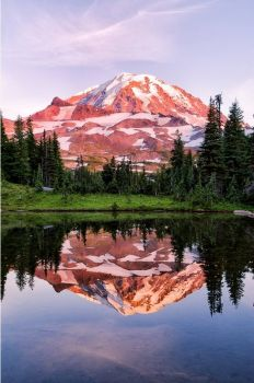 Reflection of Mt. Rainier - photog unknown
