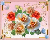 růže a motýli
