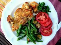 Baked Chicken and fresh tomatoes