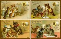 Vintage adverts featuring cats
