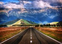 The Straight New Zealand Road