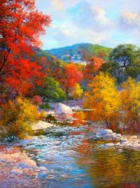 Fall Color Along The Stream...